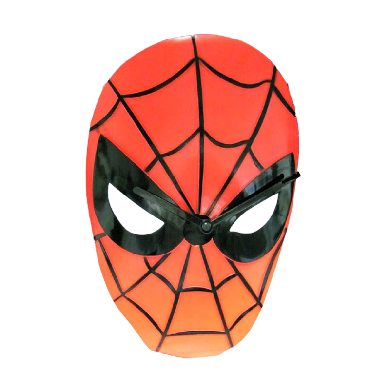 Marvel Spiderman Face Wobble Clock Wall Moving Clock - www.entertainmentstore.in
