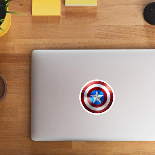 Captain America Shield Sticker - www.entertainmentstore.in