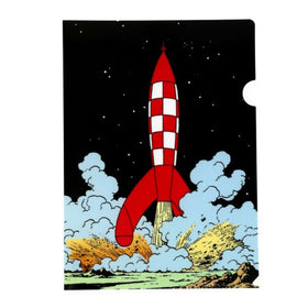 Tintin Landing of the Rocket Plastic Document Wallet