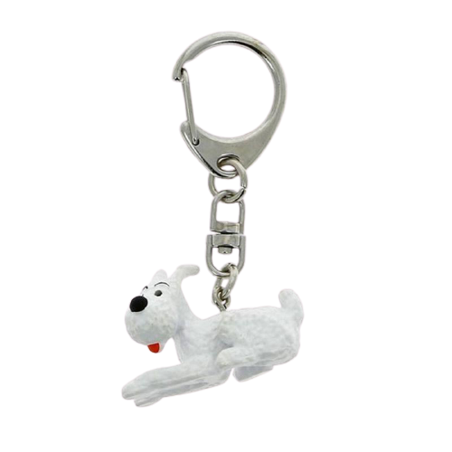 Tintin Snowy Lying Keyring - www.entertainmentstore.in