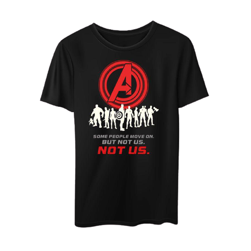 Avengers Not Us Black Mens  T Shirt - www.entertainmentstore.in