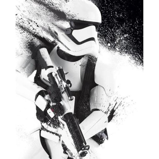 Star Wars Ep VII Stormtrooper Paint Framed Poster