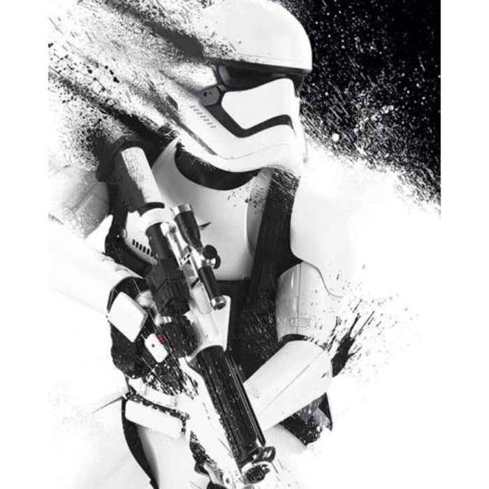 Star Wars Ep VII Stormtrooper Paint Framed Poster — www ...