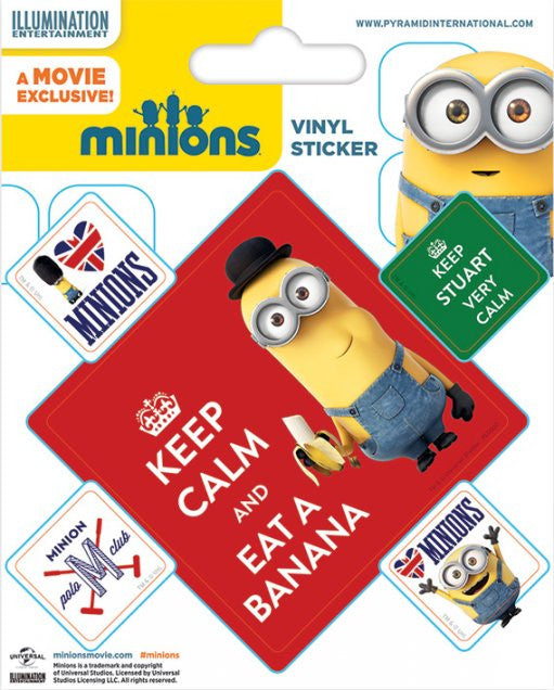 Minions Keep Calm Vinyl Sticker