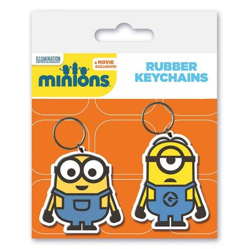 Minions Bob and Stuart Rubber Keychain