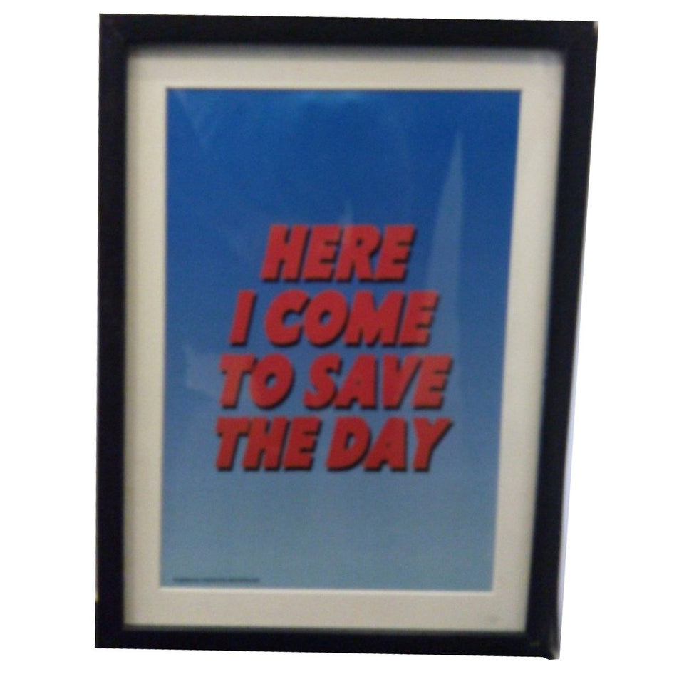 Here I Come To Save The Day -Wall Frame - www.entertainmentstore.in