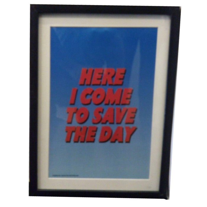 Here I Come To Save The Day -Wall Frame