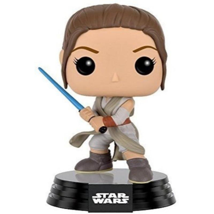 Star Wars Rey With Lightsabre Bobble Head