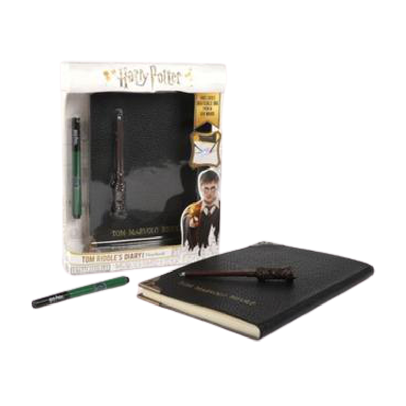 Harry Potter Tom Riddles Diary Notebook Slytherin House Pen, & UV Wand