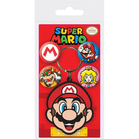 Super Marion Keychain and Badges Set