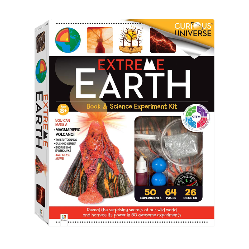 Curious Universe Extreme Earth Book And Science  Kit