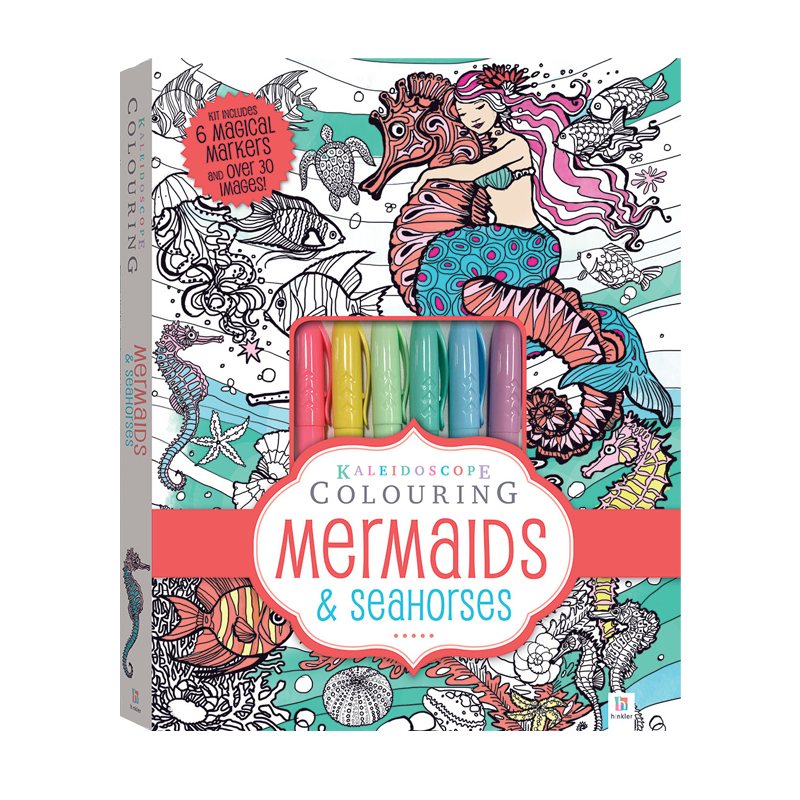 Kaleidoscope Colouring Mermaids and Seahorses Colouring Kit