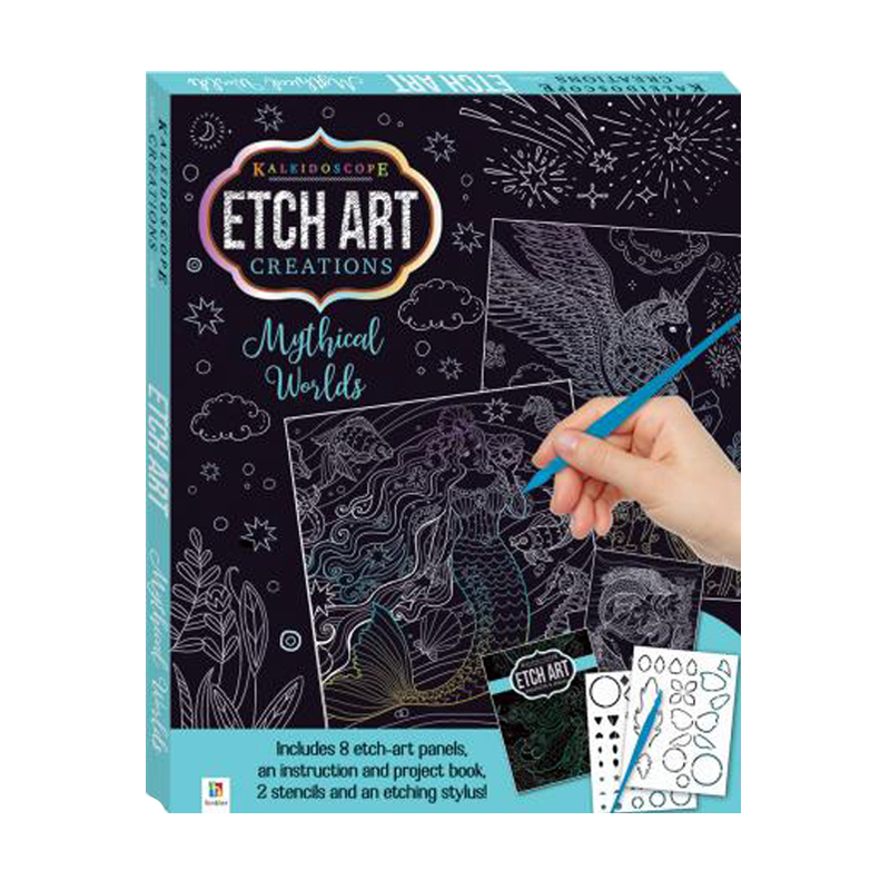 Etch Art Mini Kit  Mythical Worlds