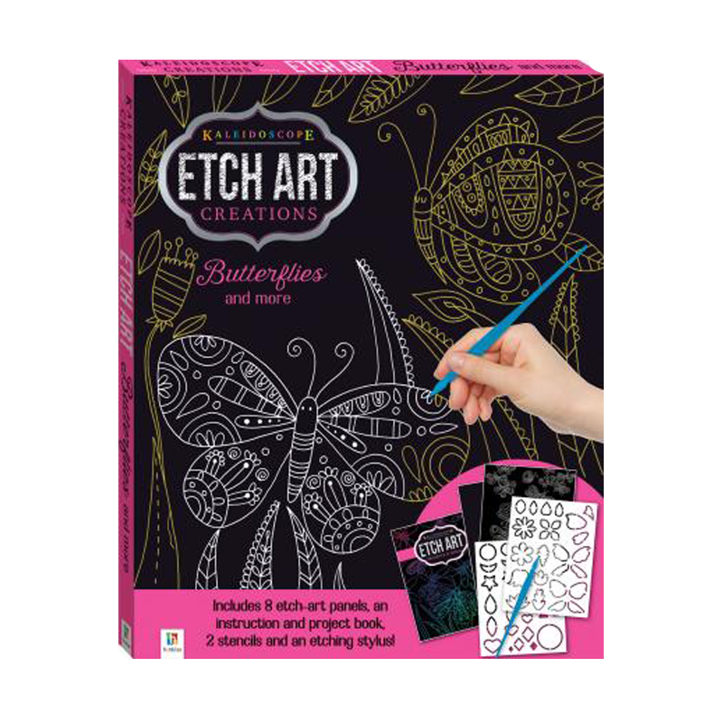 Kaleidoscope Etch Art  Kit Butterflies And More
