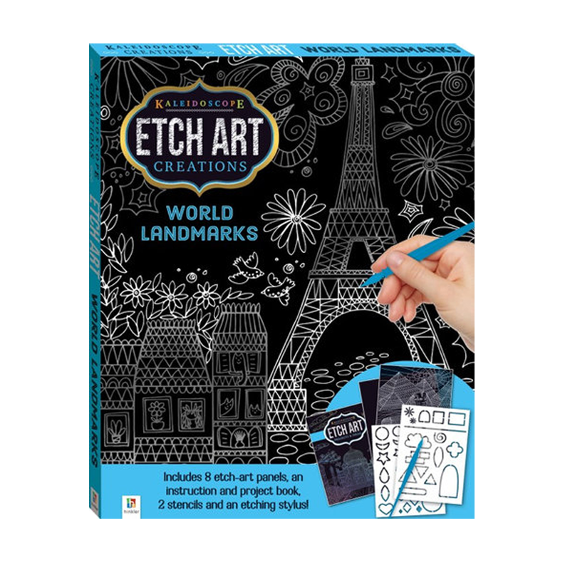 Kaleidoscope World Landmarks Etch Art Mini Kit