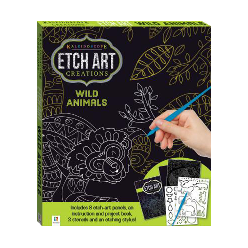 Kaleidoscope Wild Animals Etch Art Kit