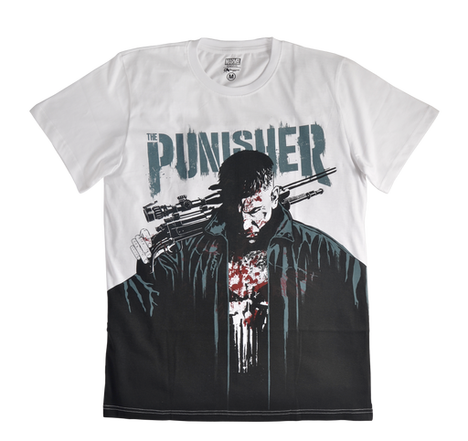 The Punisher White Mens  T Shirt - www.entertainmentstore.in