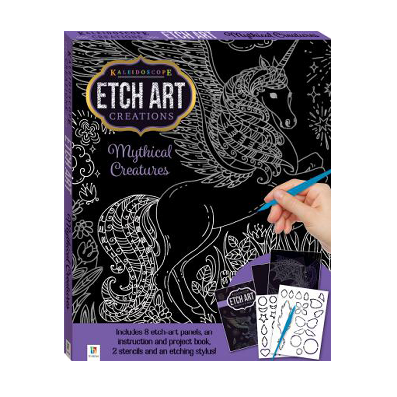 Kaleidoscope Etch Art Creations Kit Mythical Creatures