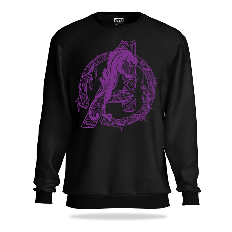 Avengers Black Panther Logo Sweatshirt - www.entertainmentstore.in