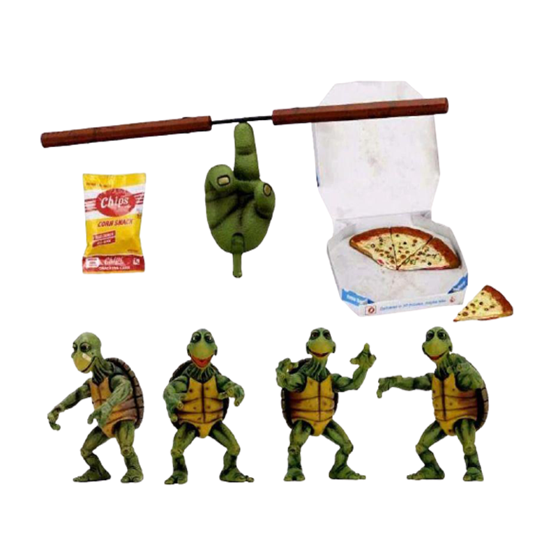 Teenage Mutant Ninja Turtles Quarter Scale Baby Turtles Action figures 4-Pack Accessory Set - www.entertainmentstore.in