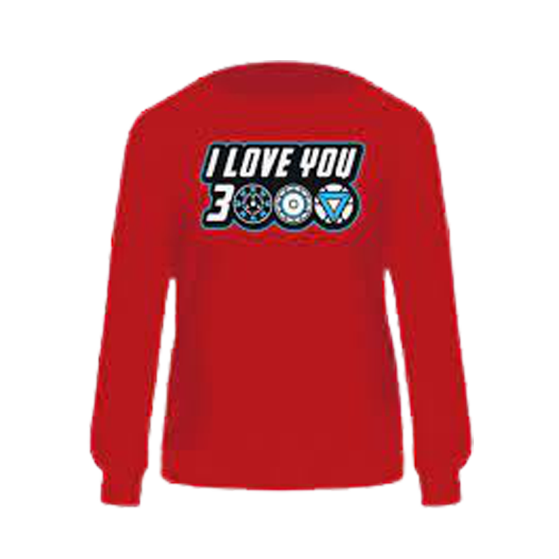 Avengers I Love You 3000 Maroon Sweatshirt - www.entertainmentstore.in