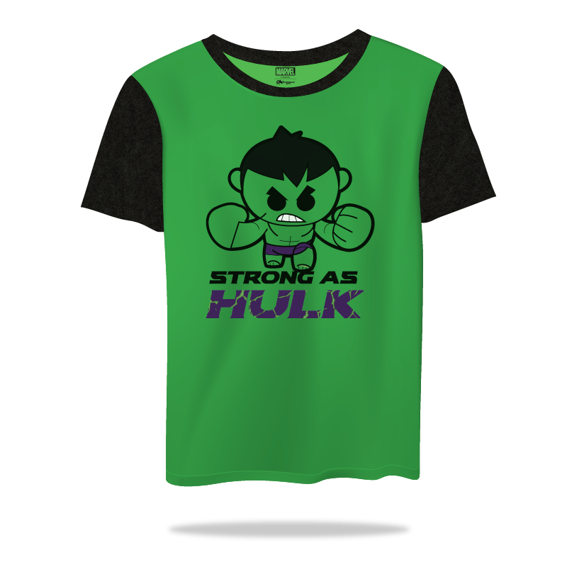Marvel Strong As Hulk kidsT Shirts - www.entertainmentstore.in