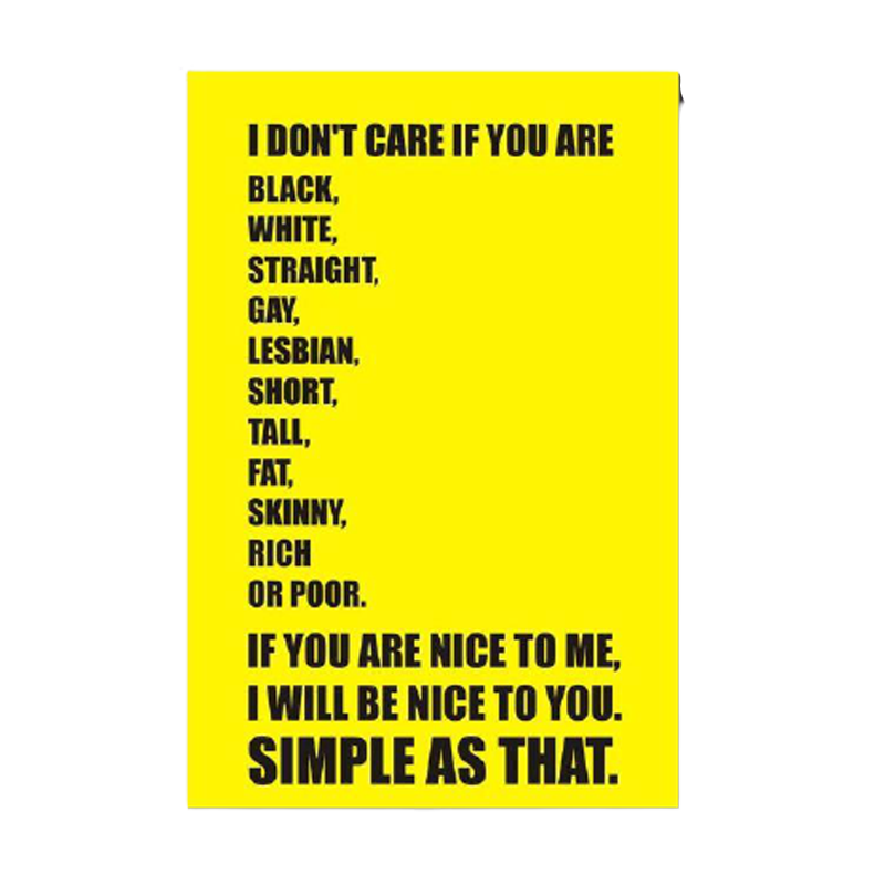 If You Are Nice To Me I Will Be Nice To You Fridge Magnet - www.entertainmentstore.in