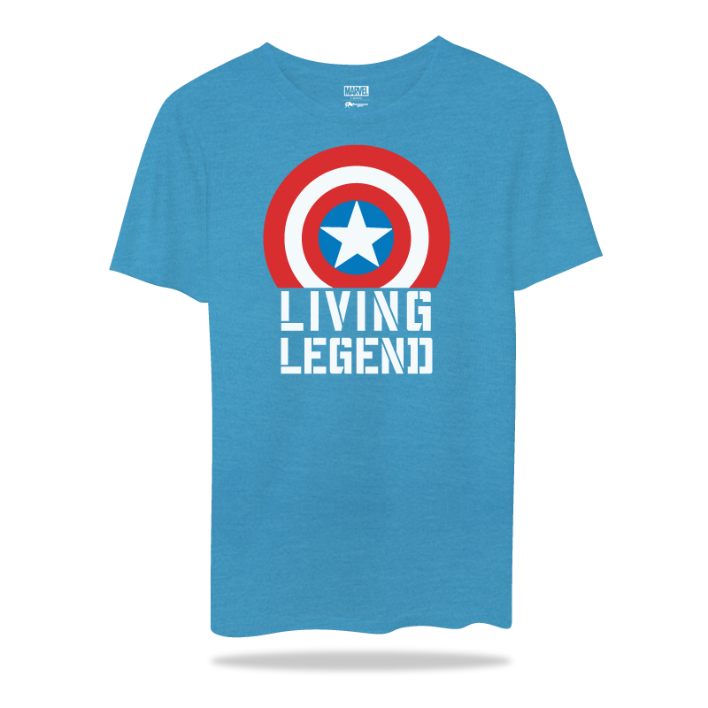 Captain America  Living Legend BlueT Shirts - www.entertainmentstore.in