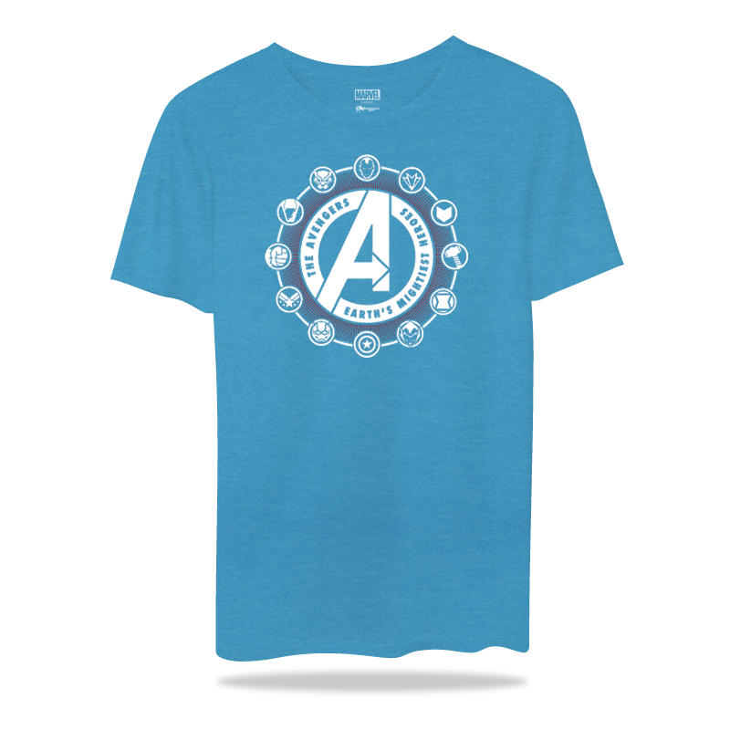 Avengers Blue MelangeT Shirts - www.entertainmentstore.in