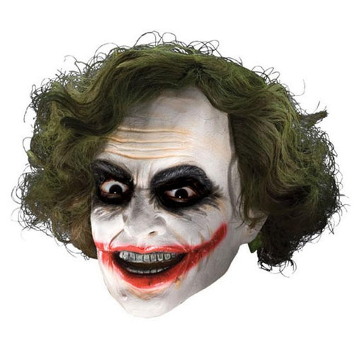 Batman Dark Knight 3/4 Vinyl Mask Adult Joker  with Hair - www.entertainmentstore.in