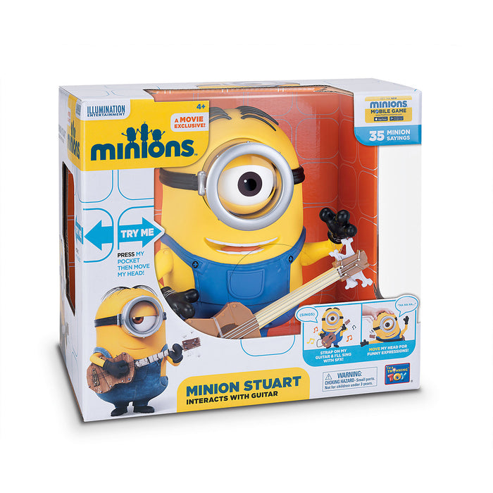 Minions Stuart Talking Action Figure 20 cm - www.entertainmentstore.in