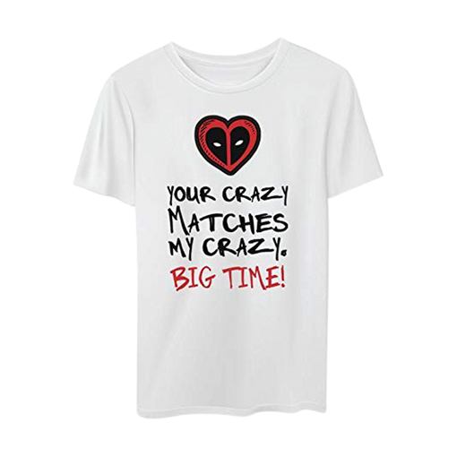 Deadpool Big Time White Mens T Shirts - www.entertainmentstore.in