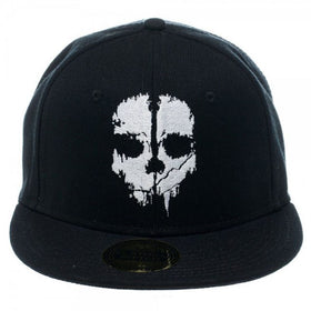 Call Of Duty Ghosts Logo Black Cap