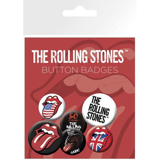 The Rolling Stones Lips Bravado Badge Pack