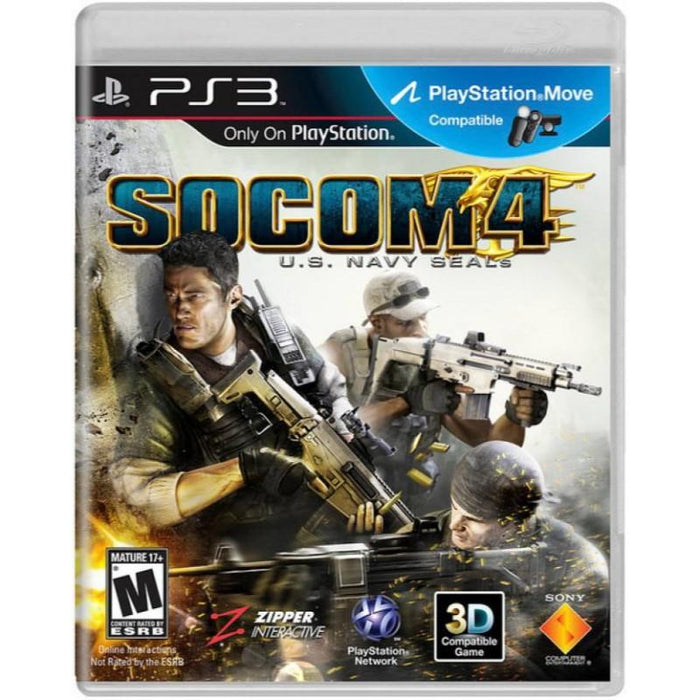 Socom 4 U S  Navy Seals PS3 Game