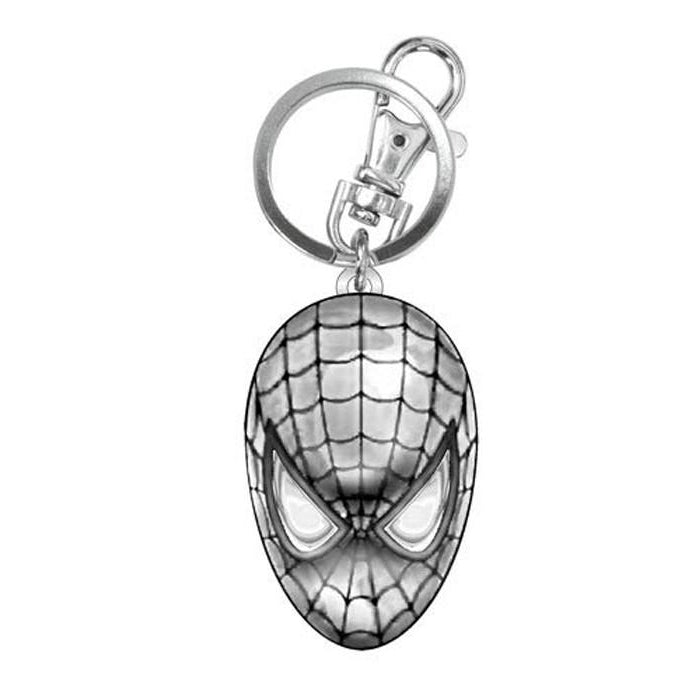 Spider-man Head Pewter Key Chain