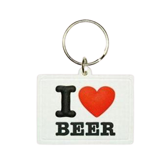 I Love Beer - Rubber Key Chain - www.entertainmentstore.in