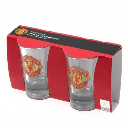 Manchester United F.C. 2pack Shot Glass Set - www.entertainmentstore.in