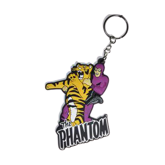 The Phantom With Tiger Rubber Keychain - www.entertainmentstore.in