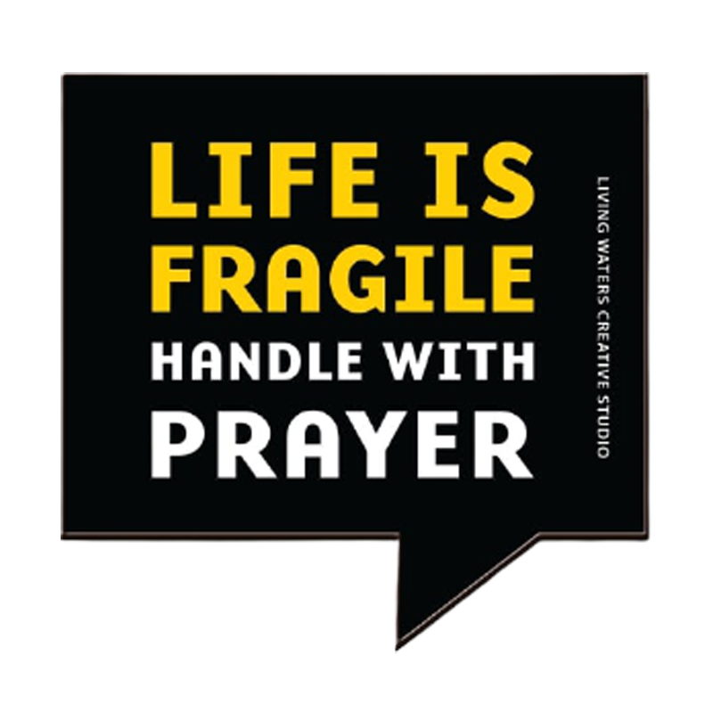 Life Is Fragile Fridge Magnet - www.entertainmentstore.in