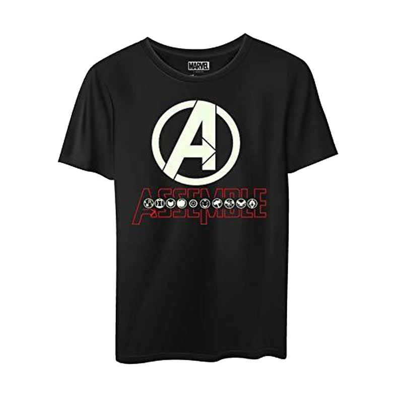 Avengers Glow In Dark Black Kids T Shirt - www.entertainmentstore.in