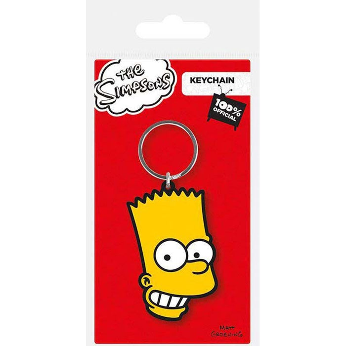 The Simpsons Bart Rubber Keychain