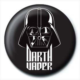 Star Wars Darth Vader Black Button Badge