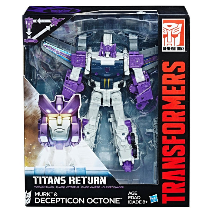 Transformers Generations Titans Return Voyager Decepticon Octone And Murk Action Figure - www.entertainmentstore.in