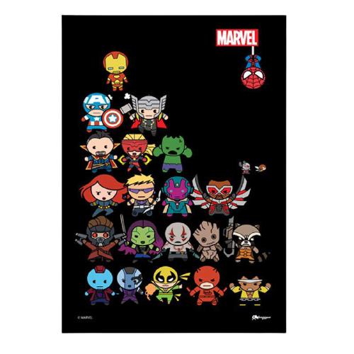 Kawaii Heroes Marvel Framed Poster - www.entertainmentstore.in
