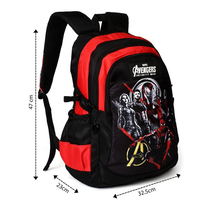 Avengers Infinity War Black & And Red School Backpack