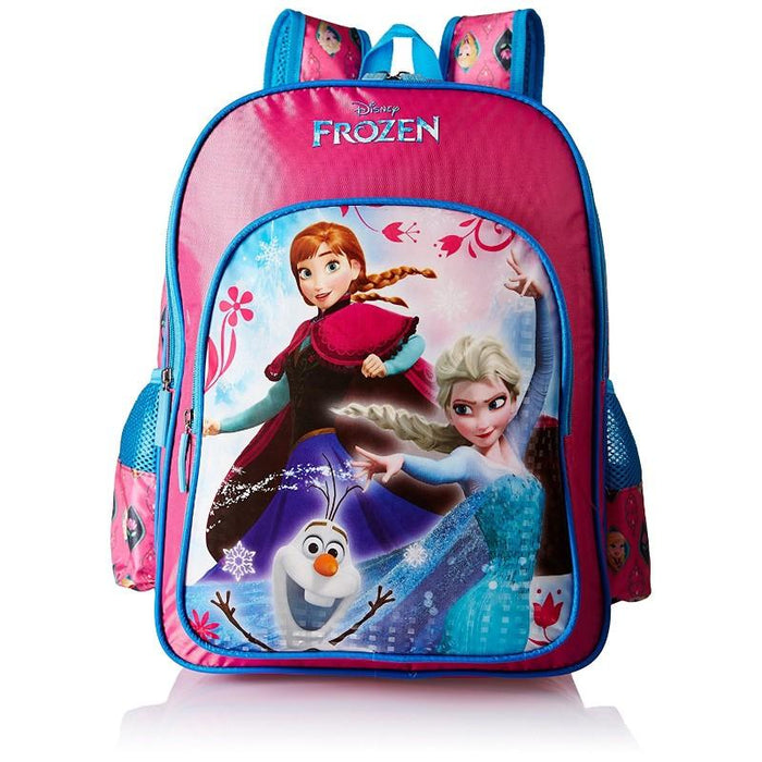 Frozen Trio Pink And Blue School Backpack
