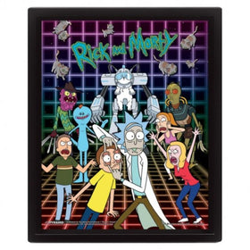 Rick And Morty Characters Grid 3D Lenticular Poster