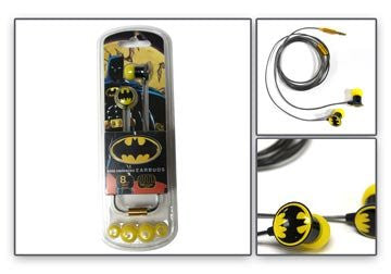 Batman Black Metal Ear Buds