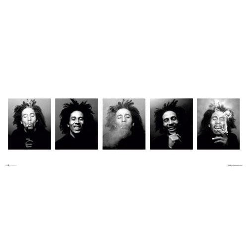 Bob Marley Faces Panoramic Art Print